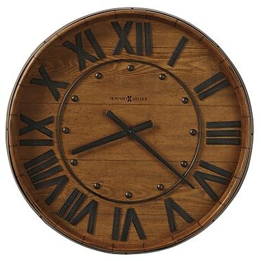 Howard Miller Oversized 25'' Wine Barrel Wall Clock