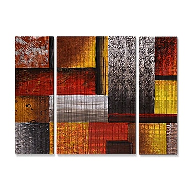 All My Walls 'Checkered Past' by Megan Duncanson 3 Piece Graphic Art Plaque Set