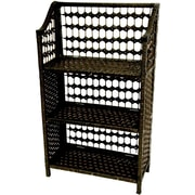 Oriental Furniture 34'' Accent Shelves Bookcase
