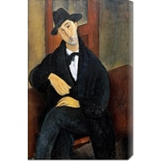 'Portrait of Mario.(Marios Varvoglios)' by Amedeo Modigliani Painting Print on Wrapped Canvas
