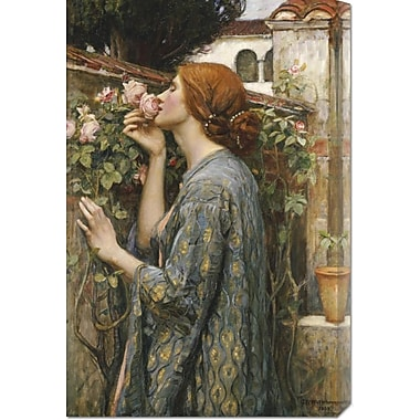 Global Gallery 'The Soul of the Rose' by John William Waterhouse Painting Print on Wrapped Canvas