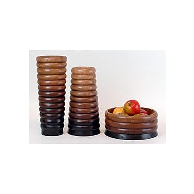 Modern Day Accents 3 Piece Ripple Vase and Bowl Set