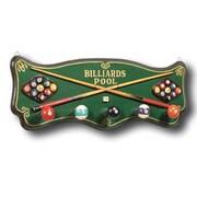 RAM Game Room Game Room Hand-Carved Billiards Coat Rack