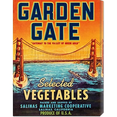'Garden Gate Selected Vegetables' by Retrolabel Vintage Advertisement on Wrapped Canvas