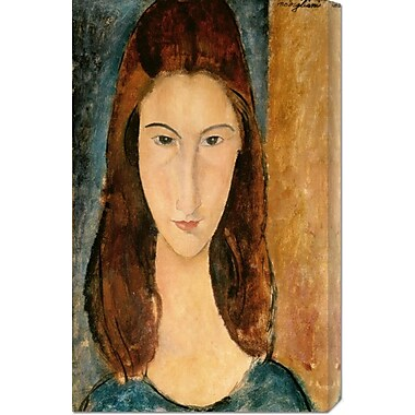 Global Gallery 'Jeanne Hebuterne, 1919' by Amedeo Modigliani Painting Print on Wrapped Canvas