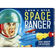 'Lone Star Space Ranger 100 Shot Cap Repeater' by Retrobot Vintage Advertisement on Wrapped Canvas