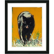 Studio Works Modern ''Cleo the Cat'' by Zhee Singer Framed Painting Print; Black