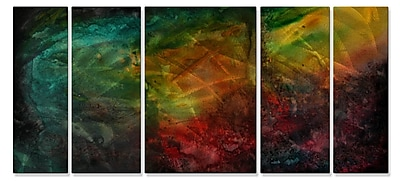All My Walls 'Flash of Light' by Megan Duncanson 5 Piece Graphic Art Plaque Set