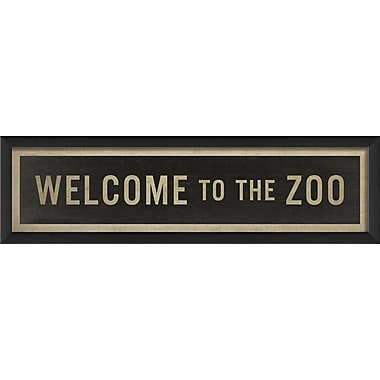 The Artwork Factory Welcome to the Zoo Framed Textual Art