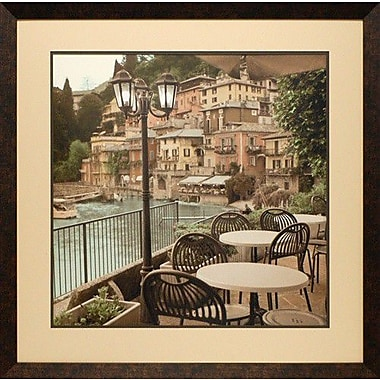 North American Art 'Porto Caffe, Italia' by Christopher Foster Framed Photographic Print