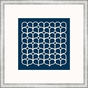 Melissa Van Hise Geometric 4 Framed Graphic Art; Navy
