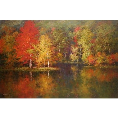 North American Art Crystal Waters by Robert Barnes Painting Print on Wrapped Canvas