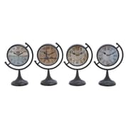 Woodland Imports Metal Desk Clock (Set of 4)