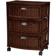 Oriental Furniture 3-Drawer Storage Chest; Mocha