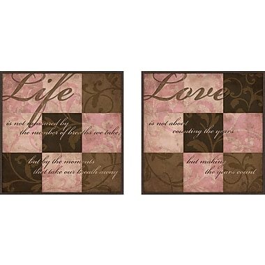 PTM Images Love and Life 2 Piece Framed Graphic Art Set