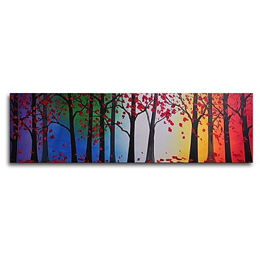 My Art Outlet Trees Hold Hands Painting on Wrapped Canvas