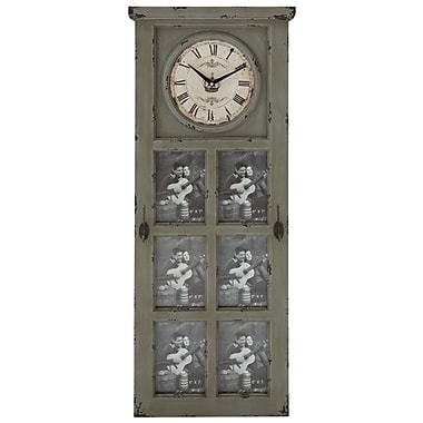 Woodland Imports Rustic and Stately Design Wall Clock
