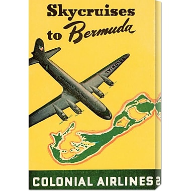 Global Gallery 'Skycruises to Bermuda' by Retro Travel Vintage Advertisement on Wrapped Canvas