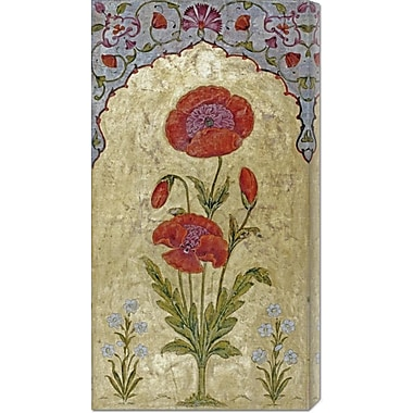 Global Gallery 'Poppy Blossoms' by Oudh Painting Print on Wrapped Canvas