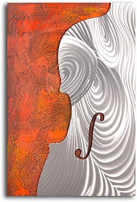 My Art Outlet Metallic Cello Form' Painting on Wrapped Canvas