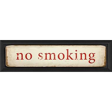 The Artwork Factory No Smoking Framed Textual Art