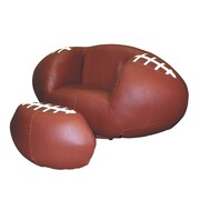 ORE Furniture Football Sports Kids Novlety Chair and Ottoman