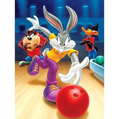 Oriental Furniture Bugs, Daffy and Taz Bowling Canvas Art