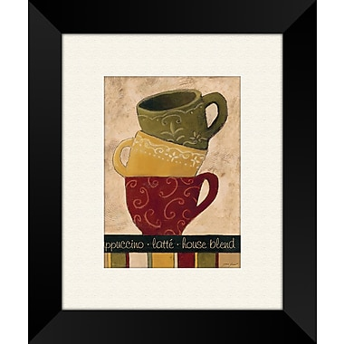 PTM Images Striped Stack B Framed Graphic Art