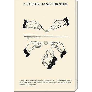 Global Gallery 'A Steady Hand for This' by Retromagic Vintage Advertisement on Wrapped Canvas