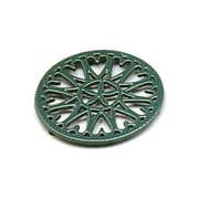 Minuteman 7'' Cast Iron Trivet Sunburst; Green