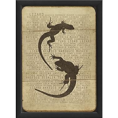The Artwork Factory Lizard Silhouette Framed Graphic Art