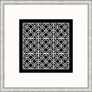 Melissa Van Hise Geometric 2 Framed Graphic Art; Black