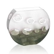 Womar Glass Impressionism Vase; 8'' H x 9.25'' W x 2.75'' D