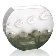 Womar Glass Impressionism Vase; 9'' H x 10.75'' W x 3.25'' D