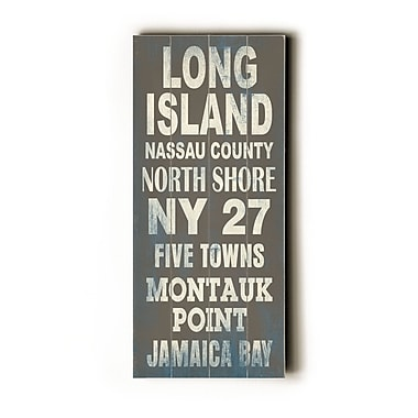 Artehouse LLC Long Island Transit by Cory Steffen Textual Art Plaque