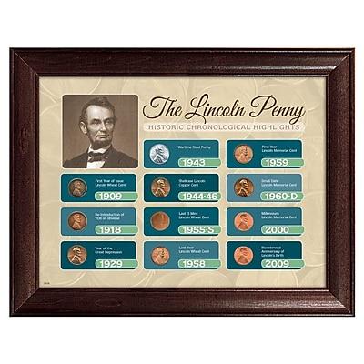 American Coin Treasure The Lincoln Penny Historical Chronological Highlight Framed Memorabilia