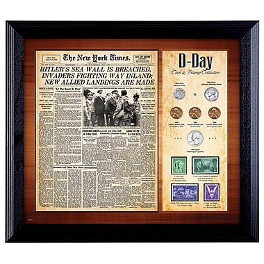 American Coin Treasure New York Times D Day Framed Memorabilia