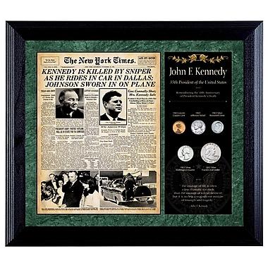 American Coin Treasure New York Times JFK Assassination Framed Memorabilia