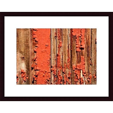Printfinders Chipped Paint Abstract by John K. Nakata Framed Photographic Print; Black