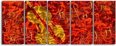 My Art Outlet Musical Invitation 5 Piece Graphic Art Plaque Set