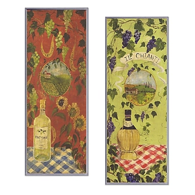 Stupell Industries Chianti and Pinot Grigio 2 Piece Painting Print Wall Plaque Set