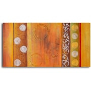 My Art Outlet Embossed Bubbles Painting on Wrapped Canvas
