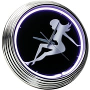 On The Edge Marketing Lady Silhouette 14.75'' Neon Wall Clock