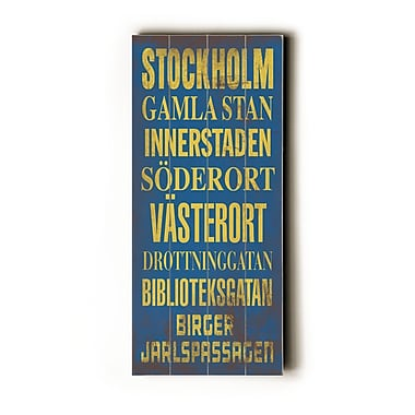 Artehouse LLC Stockholm Transit by Cory Steffen Textual Art Plaque