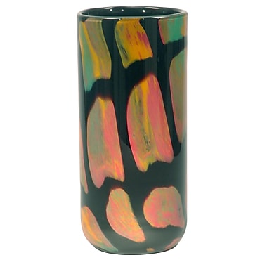 Dale Tiffany Bonfire Cylindrical Vase; 9.5'' H x 5.5'' W x 5.5'' D