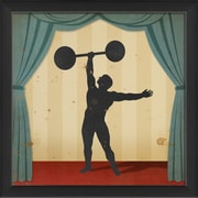 The Artwork Factory Stage Circus Performers Strongman Framed Graphic Art