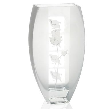 Womar Glass Sweetheart Vase; 11'' H x 6'' W x 2.5'' D
