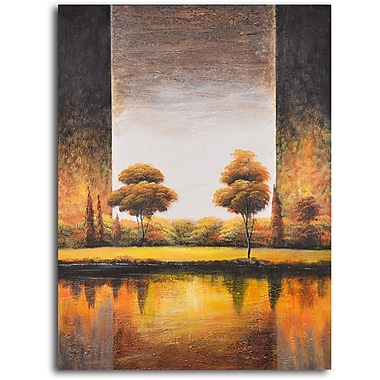 My Art Outlet 'Backlit Meadow' Painting Print on Wrapped Canvas
