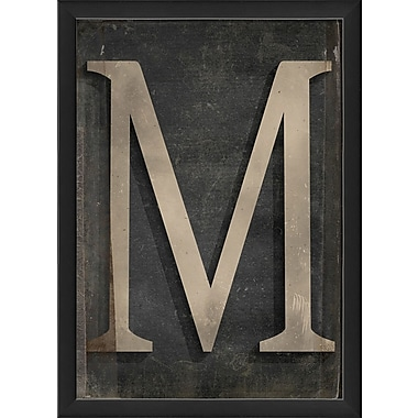 The Artwork Factory Letter M Framed Textual Art