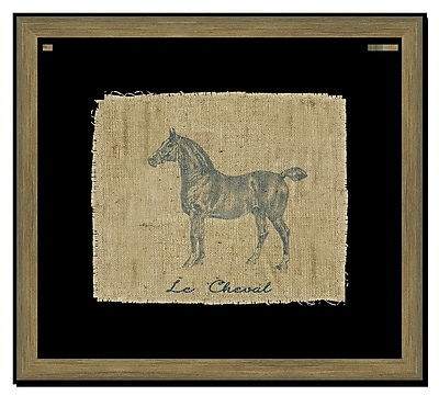 Melissa Van Hise Horse II Framed Graphic Art; Navy